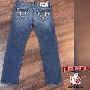 ⬇️$48 True Religion Skinny Sun Rainbow Pockets Sz7